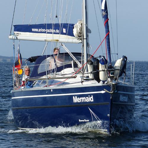 Boot vor Stralsund